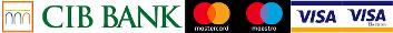 Bankkártya elfogadás: Maestro, Master Card, Visa, Visa Electron
